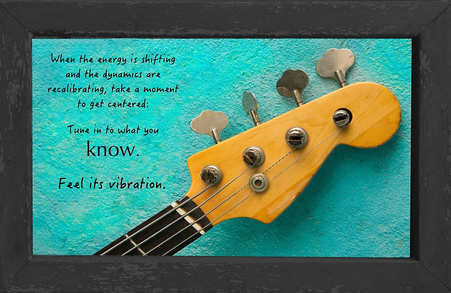 gusto cafe, photo art, inspiring picture and message, self-help, self-love, love, tune, vibration, guitar, knowing