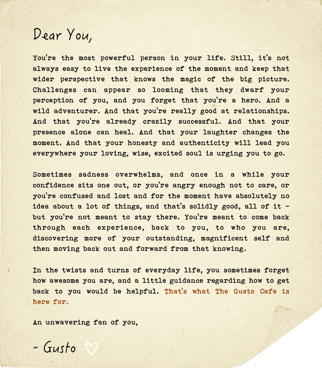A Love Letter, You're Awesome