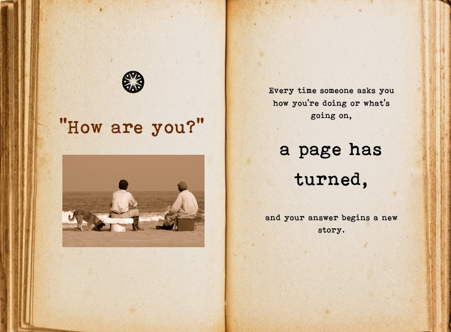 How are you? Cool Pages. Love the story you're living, no matter what page you're on.