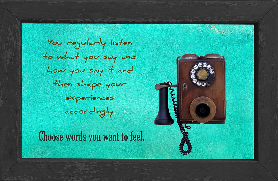 gusto cafe, photo art, inspiring picture and message, self-help, self-love, love, listen, phone, vintage