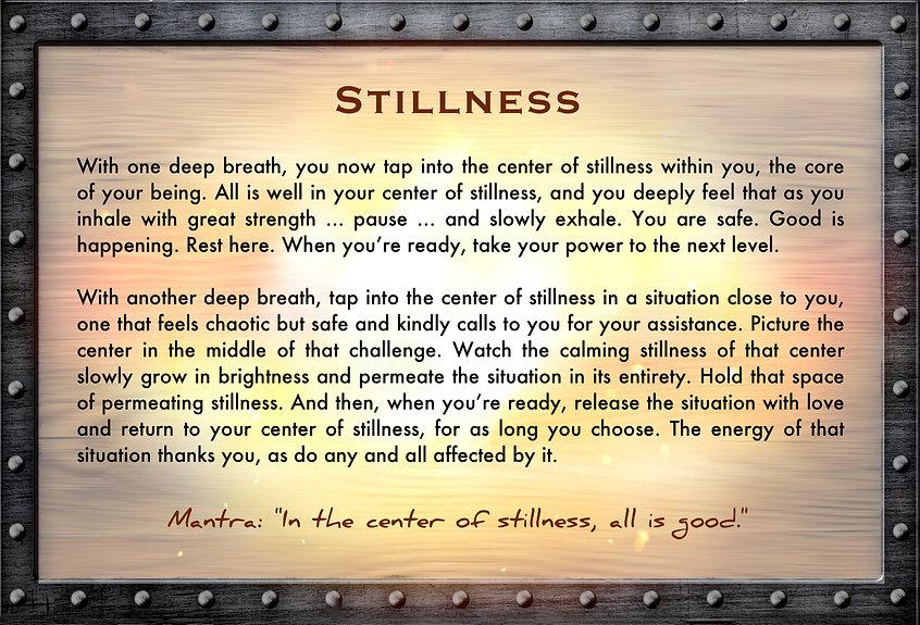 stillness, superpower, treasure, chest, gusto, cafe