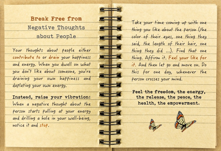 Break Free from Negative Thoughts about People