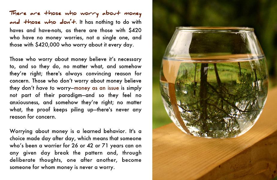 "A learned behavior in ""Money Matters."""