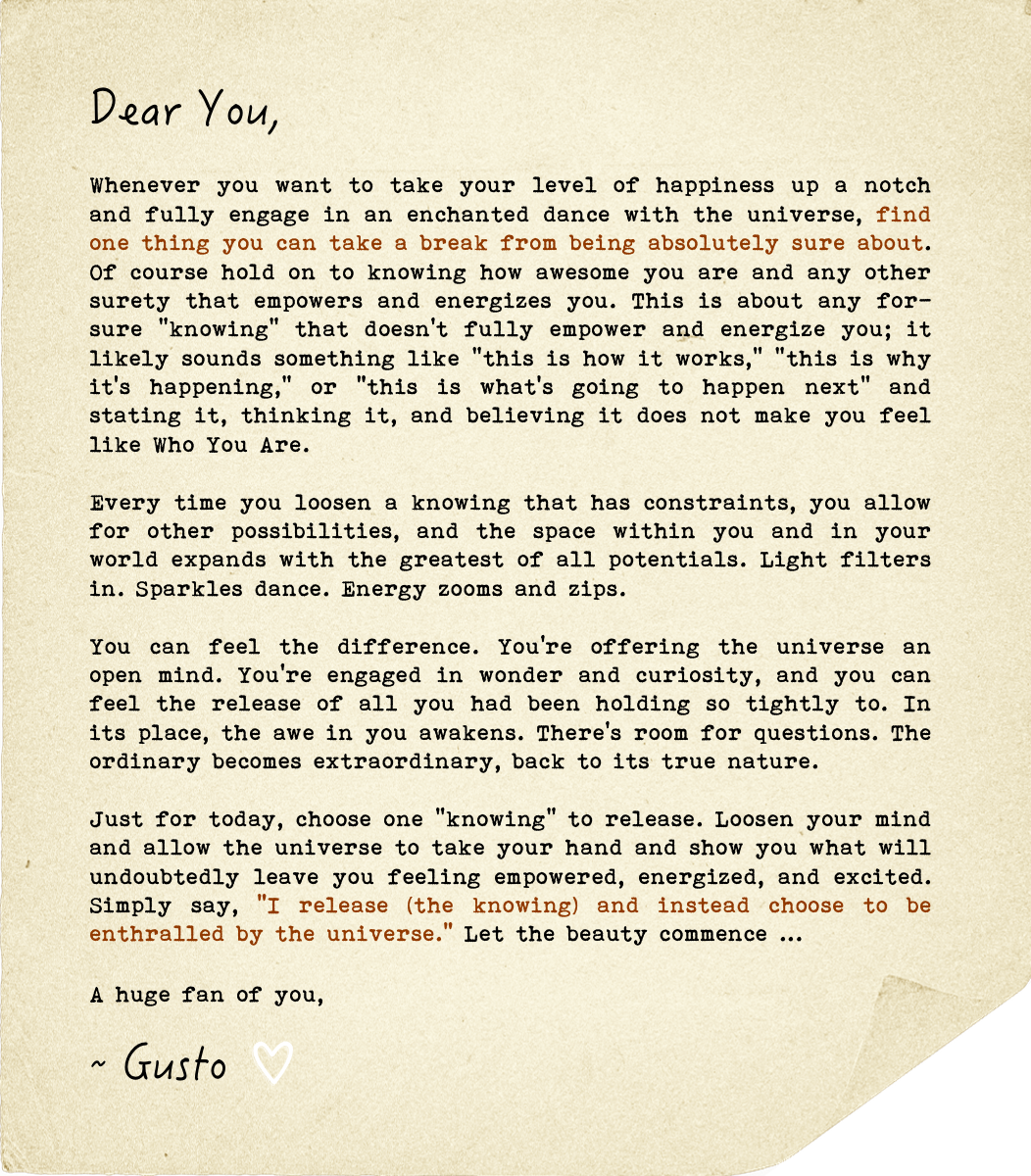 A Love Letter, Get Enthralled