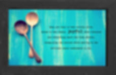 gusto cafe, photo art, inspiring picture and message, self-help, self-love, love, spoons, silver, tarnish, blue, joy, alive