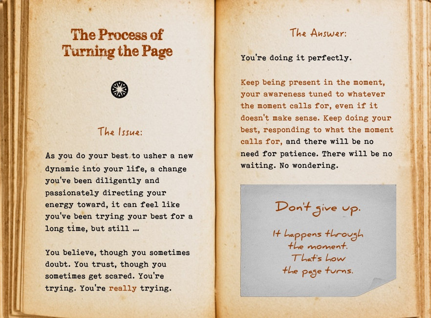 The process of turning the page. Cool Pages. Love the story you're living, no matter what page you're on.