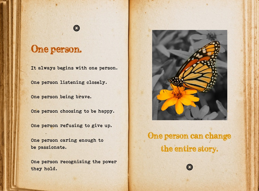 One person. Cool Pages. Love the story you're living, no matter what page you're on.