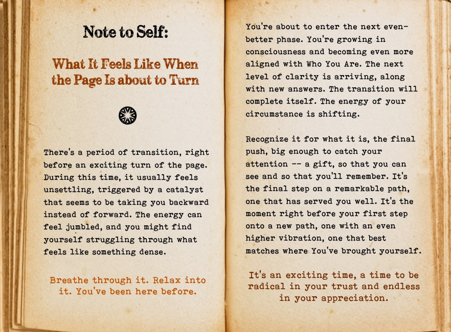 Note to self. Cool Pages. Love the story you're living, no matter what page you're on.