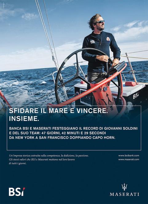 """""""Giovanni Soldini"""" for BSI and Maserati"""