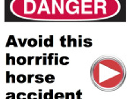 How to EASILY avoid this horrific horse accident