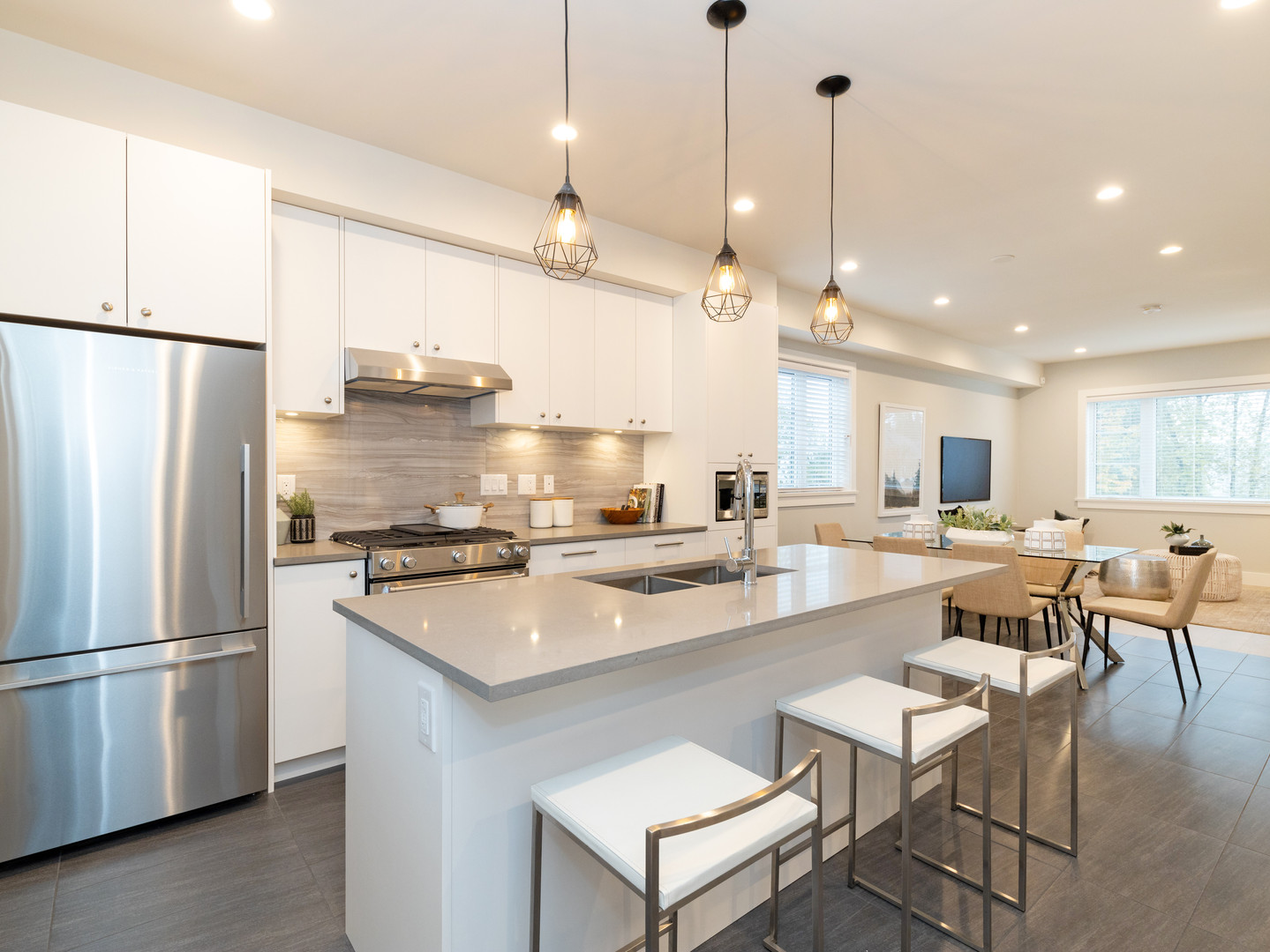 Open Concept Kitchen in Villa Bleu Townhome