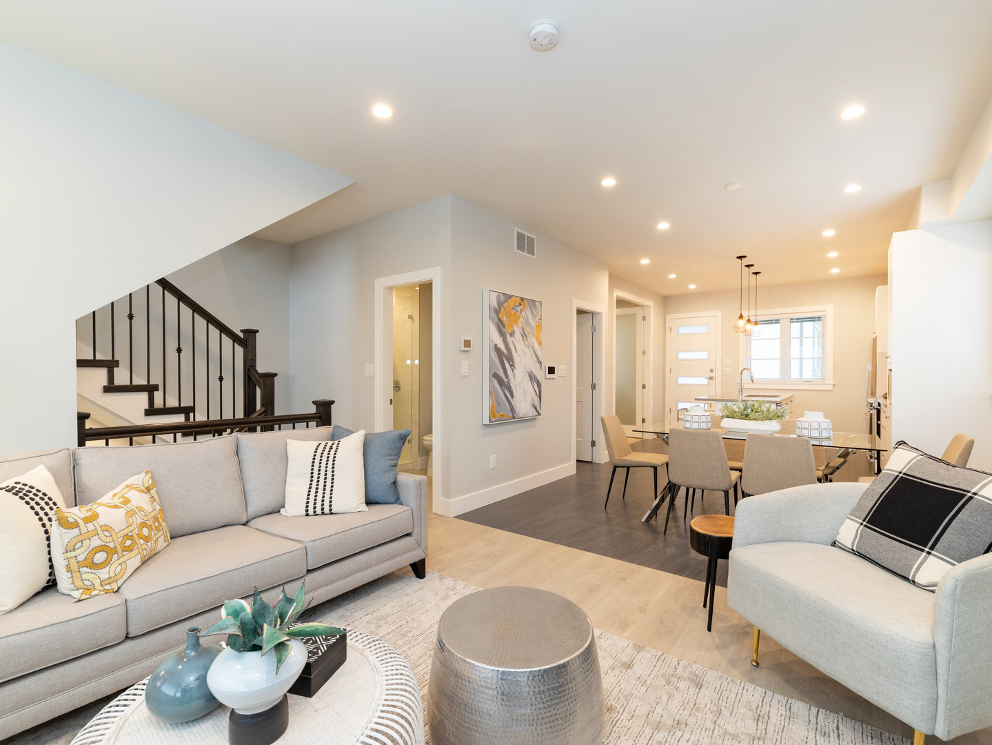 Living Room in Townhome