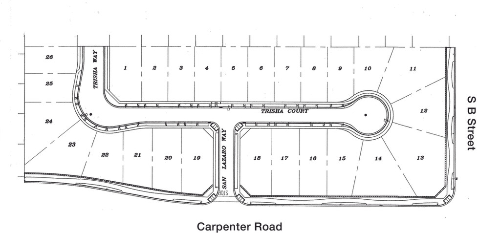 Linda Vista site lot plan