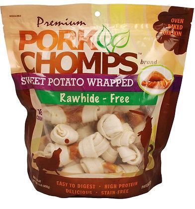 "3""-4"" Knots, Sweet Potato flavor,18 ct"
