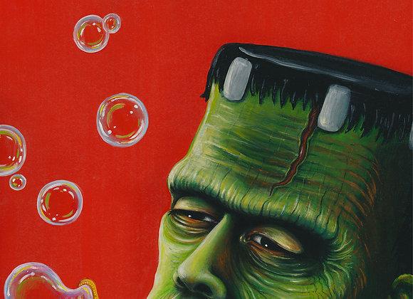 """Frankie Bubbles, Glicee Print 11"""" x 15"""""""