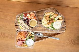 Salads- Kindred Kitchen Food Overhead 20