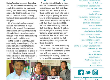 A New Year of News from Empowerment International in Nicaragua