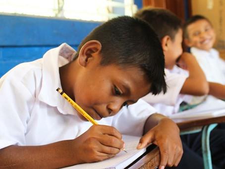 Studying Hard in Rural Community of Santa Ana