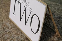 Die Cut Gold Table Card