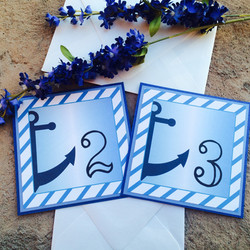 Blue Nautical Table Numbers