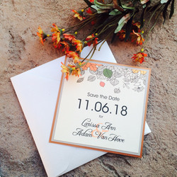 Autumn Leaves Save the Dates