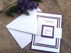 Purple Arrow Invitation