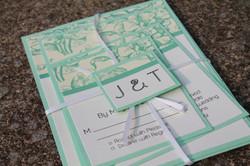 Mint Green Pattern Invitations