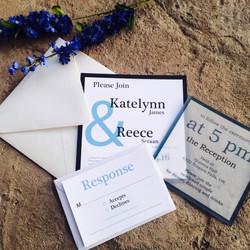 Blue Vellum Invitations