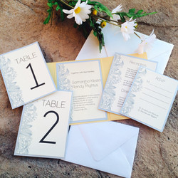 Gold and Silver Floral Invites