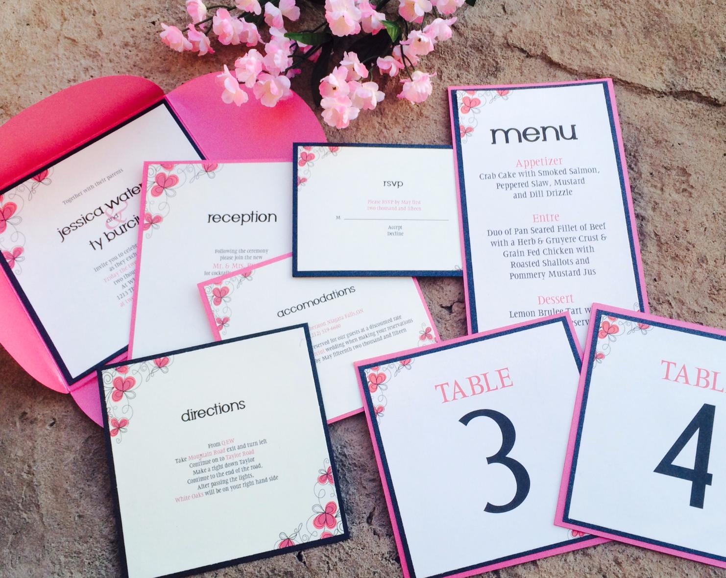 Pink Floral Petal fold Set