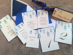 Blue Birdcage Invitation Set