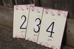 Orange & Purple Pattern Table Cards