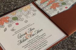 Copper 6x6 Pocket Invitation