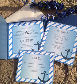 Blue Nautical Theme Invite
