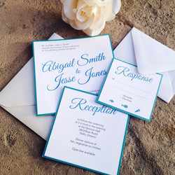 Blue Modern Calligraphy Invites