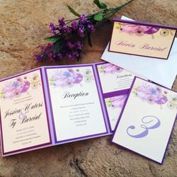 Purple Z Card Invitation