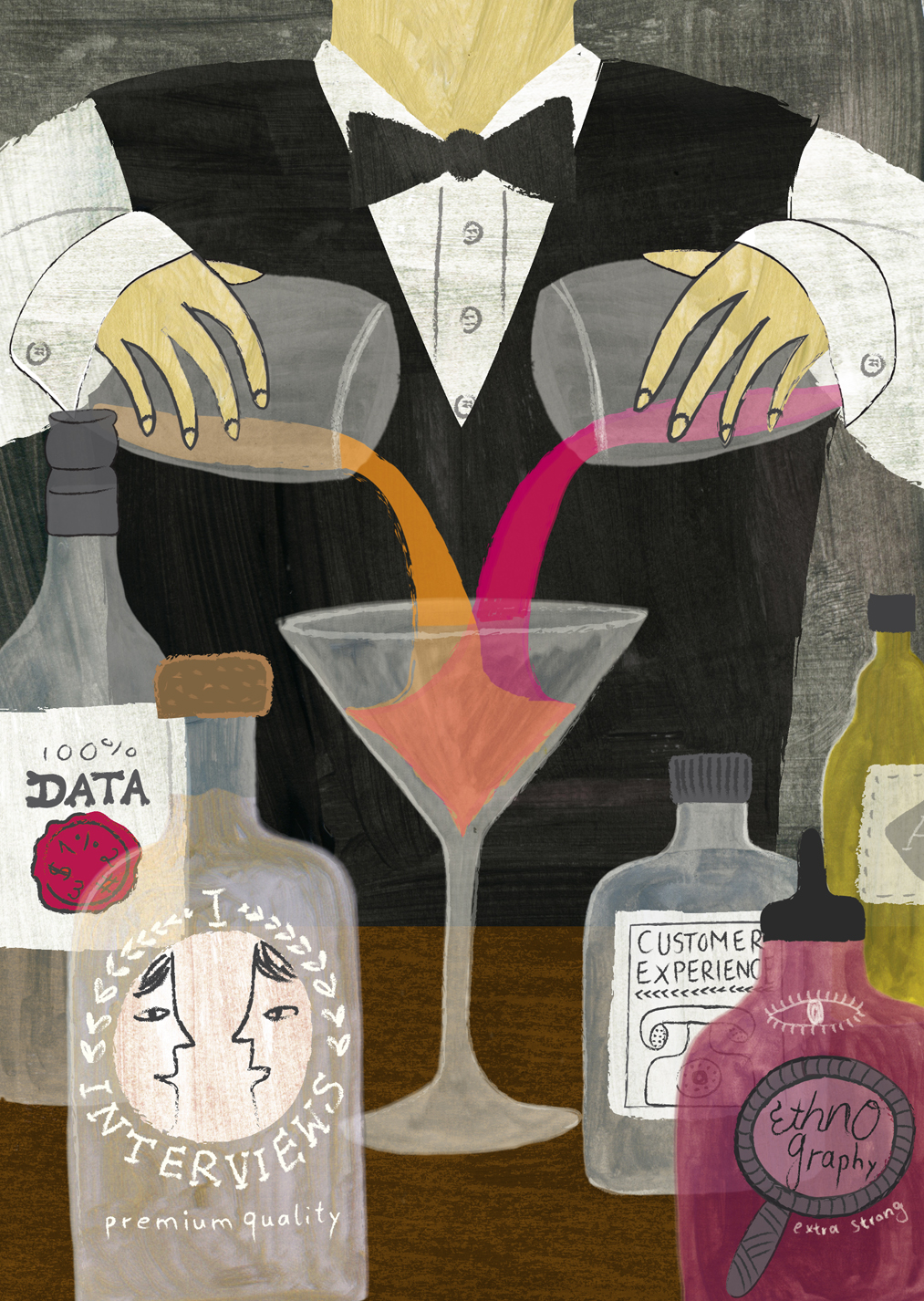 comparing researcher to mixologist