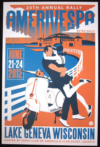 Amerivespa 2012 Rally Poster