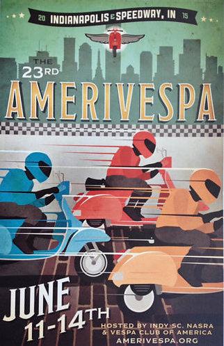 Amerivespa 2015 Rally Poster