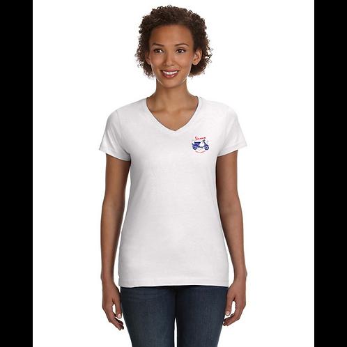 Vespa Club of America (VCOA Ladies' V-Neck Fine Jersey T-Shirt