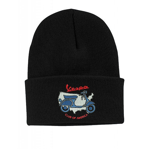 Vespa Club of America (VCOA) Embroidered Knit Beanie