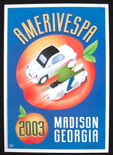 Amerivespa 2003 Rally Poster