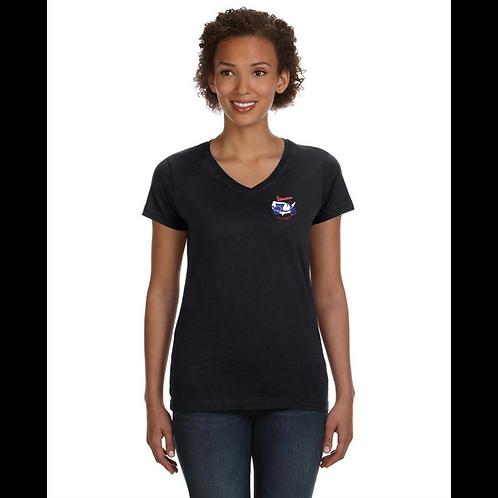 Vespa Club of America (VCOA) Ladies' V-Neck Fine Jersey T-Shirt