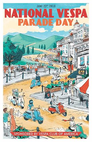 National Vespa Parade Day Poster