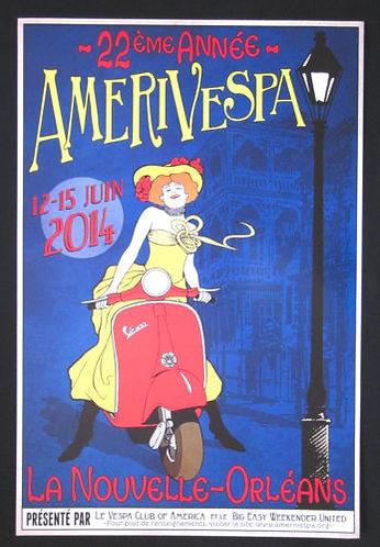 Amerivespa 1999 Rally Poster