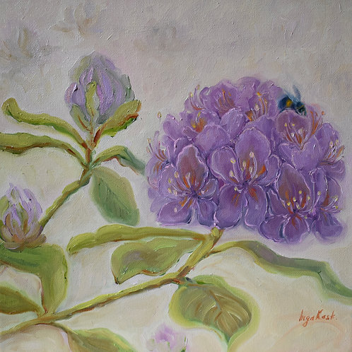 oil painting ''Rhododendron'