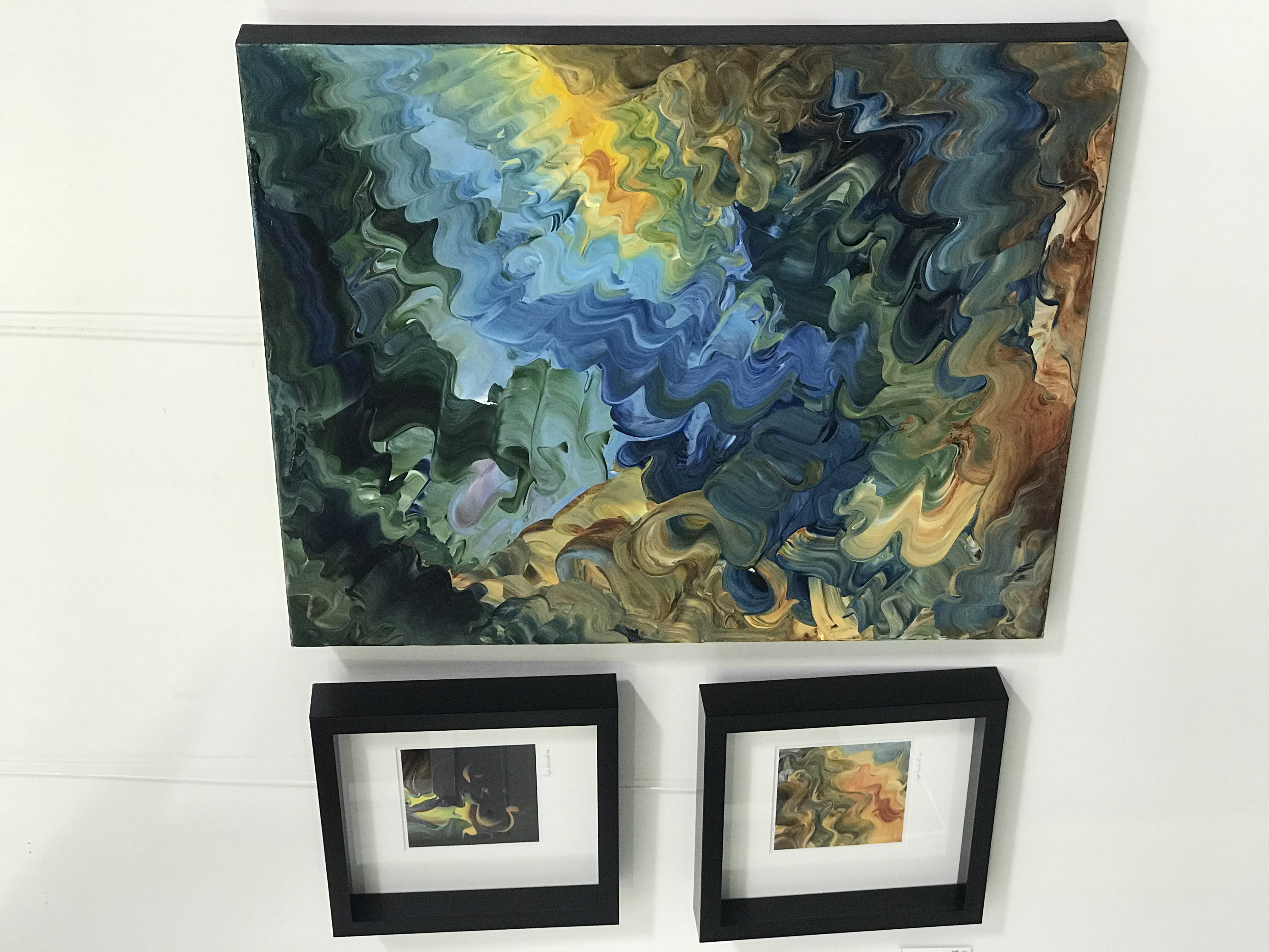 Set of two framed photographs and pa