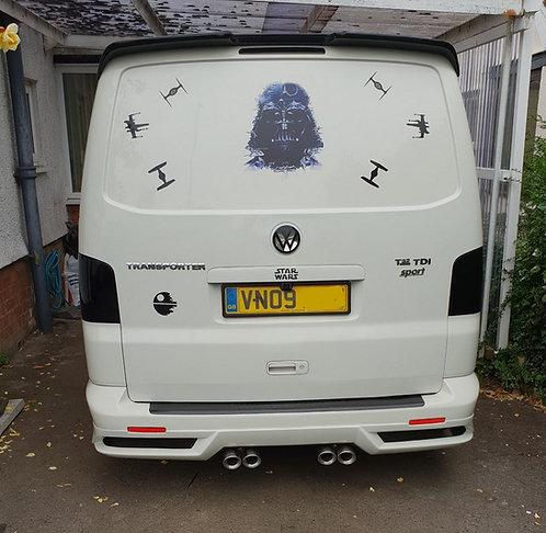 VW T5- Rear splitter