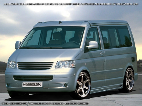 VW T5/T6- Side Skirts (GTX), only for SWB