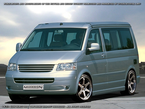 VW T5/T6- Side Skirts (Soft), only for SWB